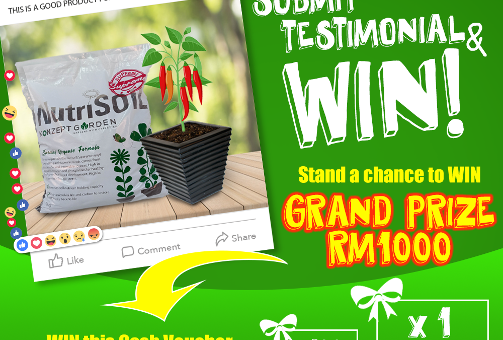 Submit Testimonial and Win Contest by Konzepy Garden